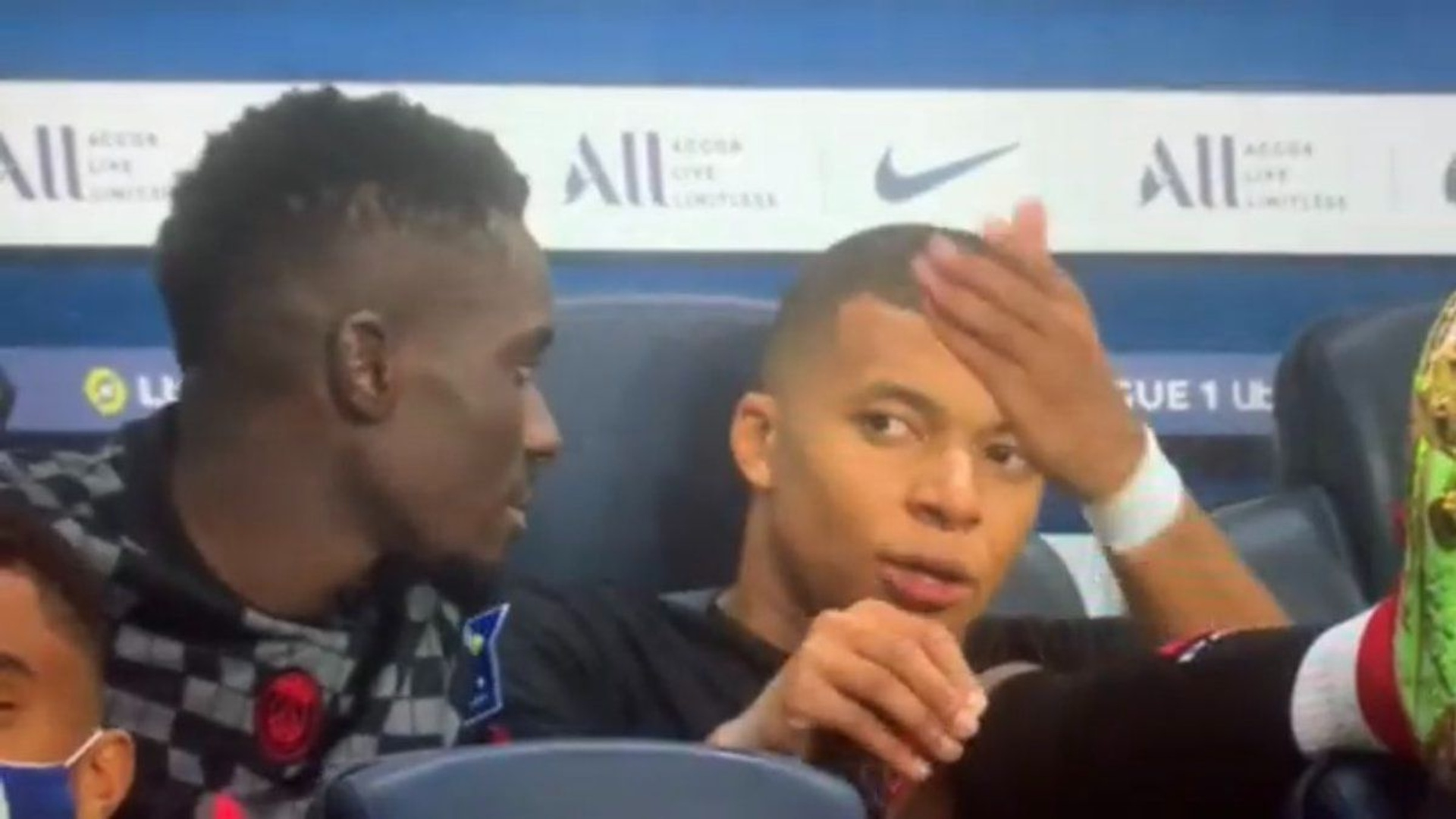 In the video, Mbappe gets angry because of Neymar
