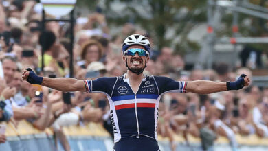 Photo of France's Julien Alaphilippe wins the men's road race at the World Championships for the second time in a row