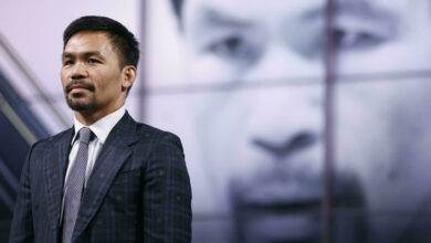 Photo of The famous boxer Manny Pacquiao, presidential candidate, ends his career